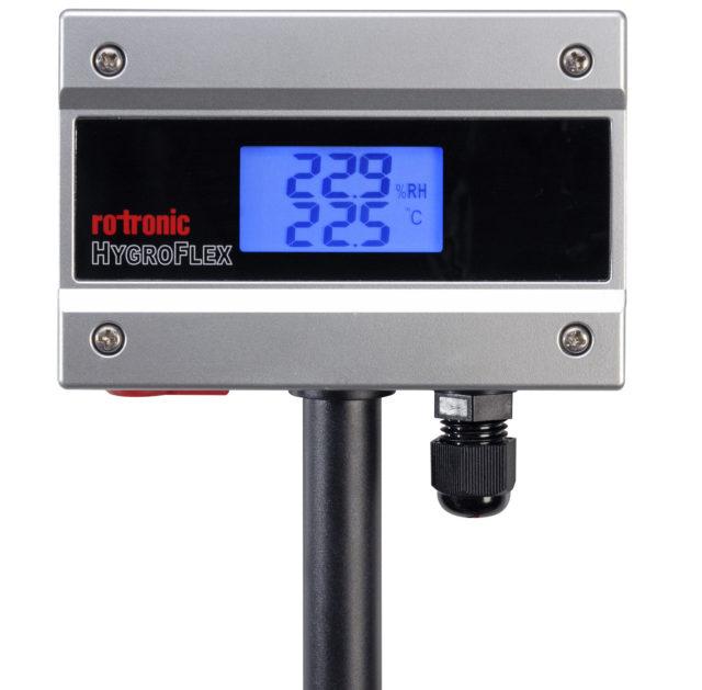 Transmissor Umidade e temperatura Rotronic Tecnovip HF1 Parede Display